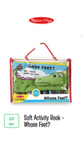 Whose Feet? Soft Activity Book