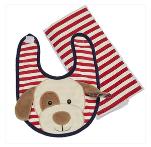 Max the Puppy Bib & Burp Set