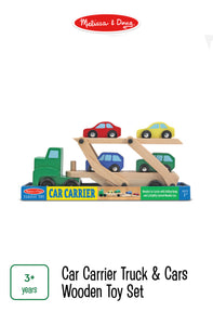 Car Carrier Wooden Toy Set