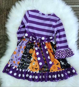 Jack O Lantern Twirl Dress