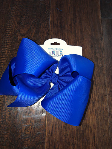 Royal blue 7.5in Bow
