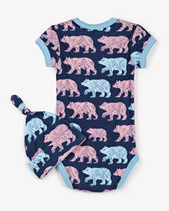 Cottage Bears Bodysuit & Hat