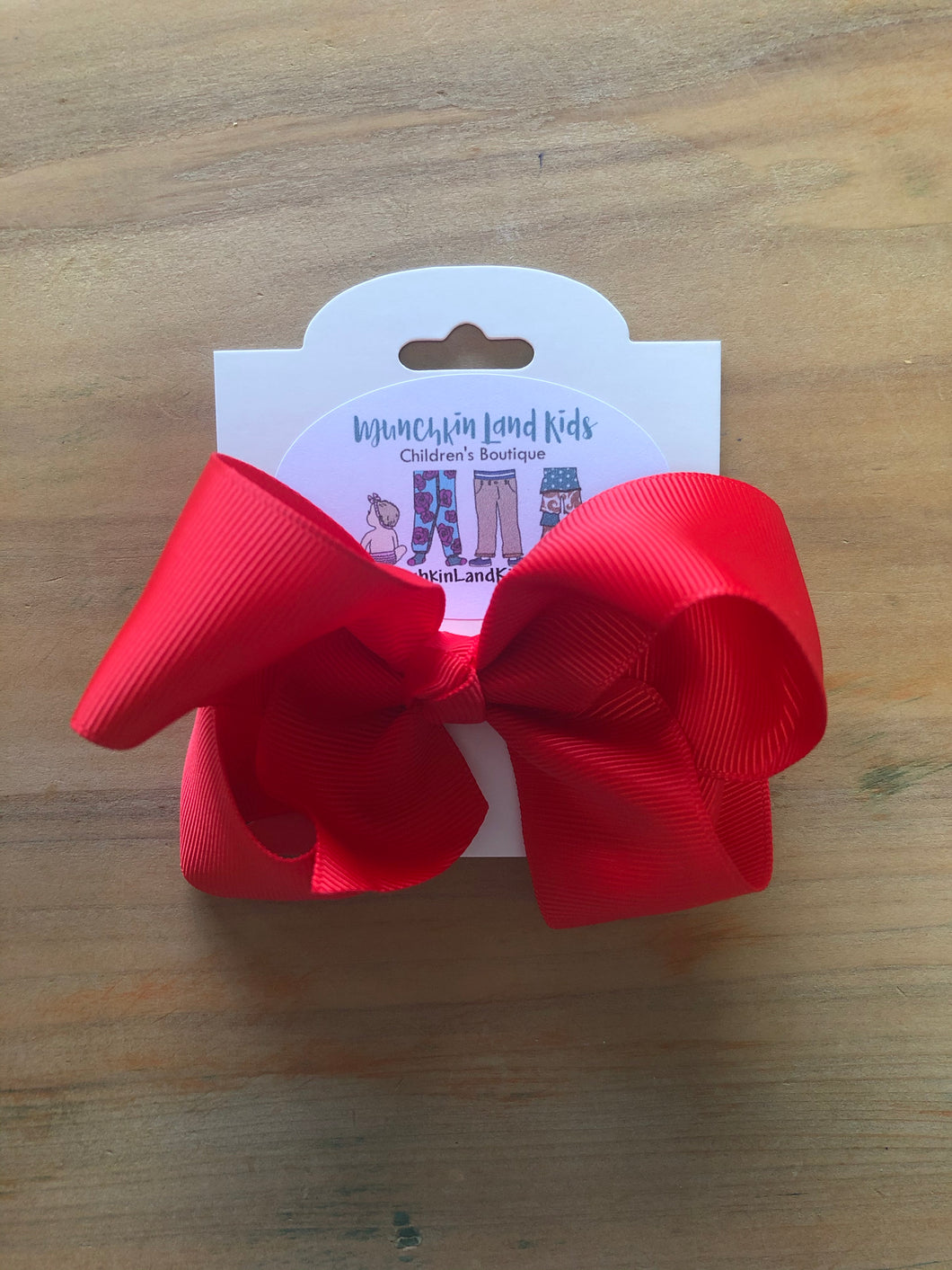 "Red 4"" Hair Bow"