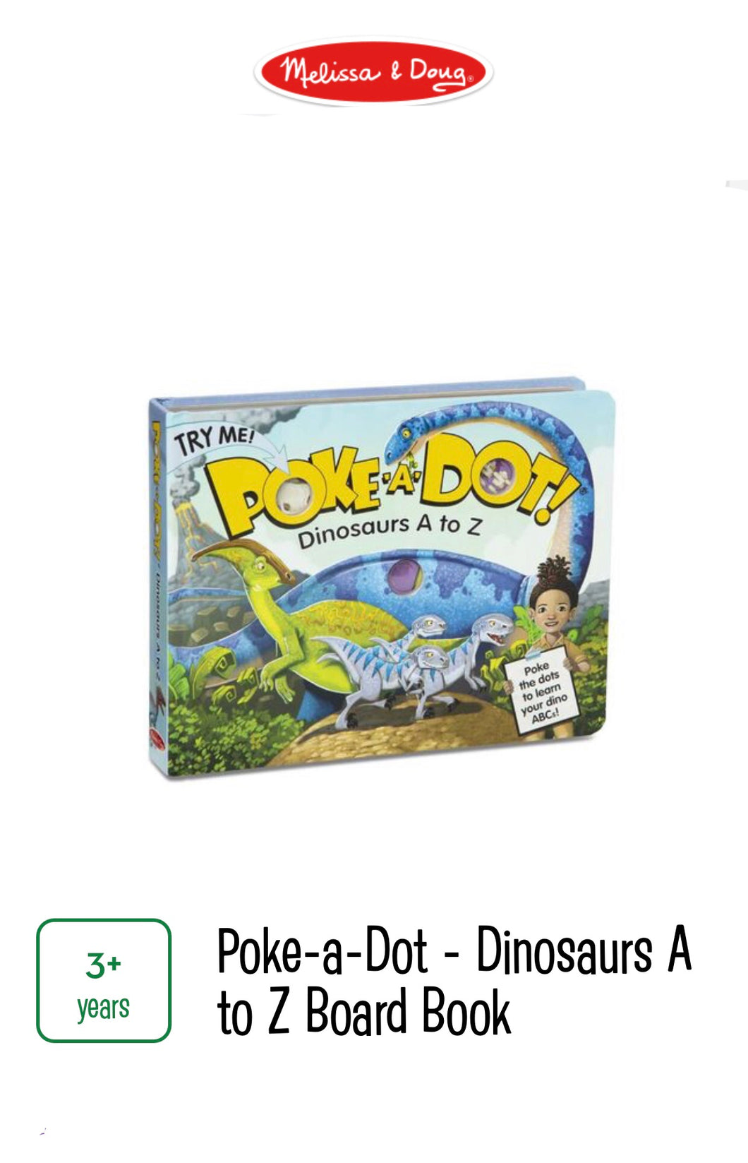 Poke-A-Dot Dinosaurs A To Z Book