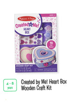 Load image into Gallery viewer, Heart Box Wooden Craft Kit