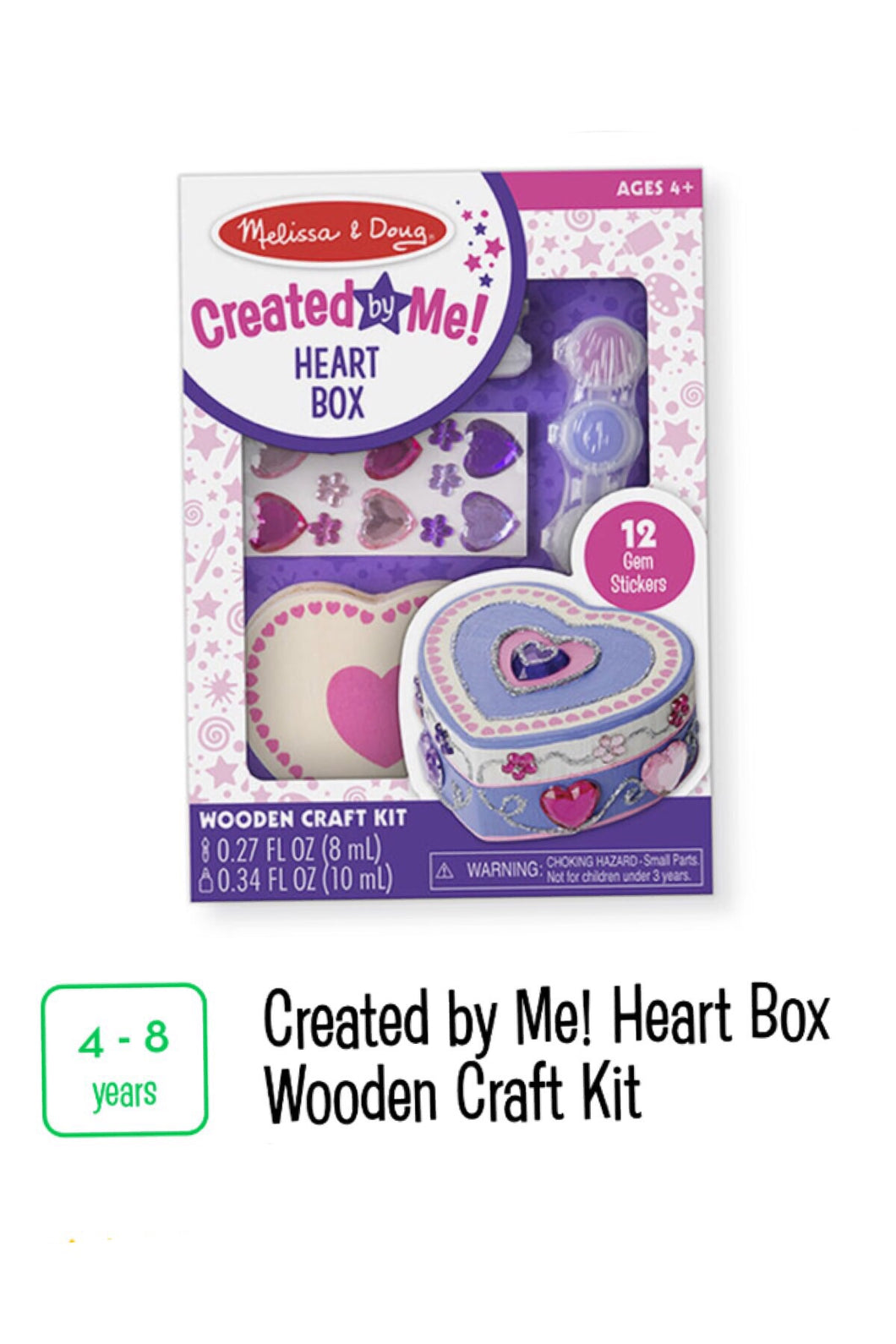 Heart Box Wooden Craft Kit