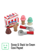 Load image into Gallery viewer, Scoop & Stack Ice Cream Cone Playset