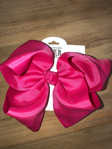 "Hot Pink 7.5"" Bow"