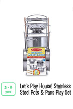 Load image into Gallery viewer, Stainless Steel Pots & Pans Play Set