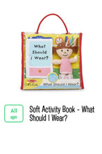 Load image into Gallery viewer, Soft Activity Book What should I wear?