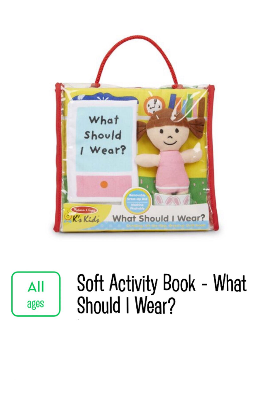 Soft Activity Book What should I wear?