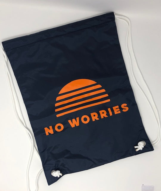 No Worries Drawstring backpack