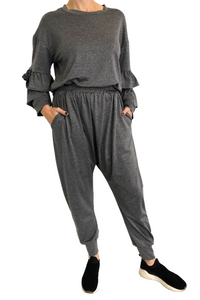 Grey Brazilian Track Suit Pants