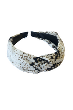 Snake Skin Knot Alice Band
