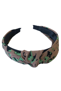 Brown & Green Animal Knot Alice Band