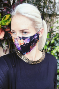 Baroque Floral Head Mask