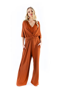 Tan Twist Jumpsuit