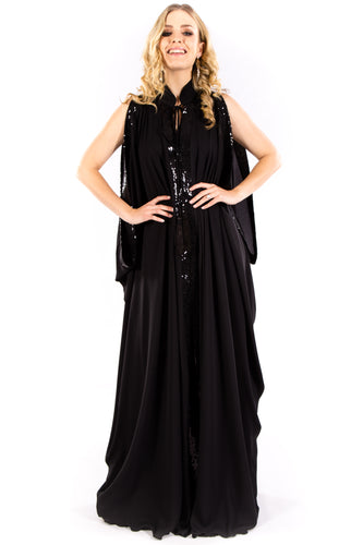 Black Slouch Gown