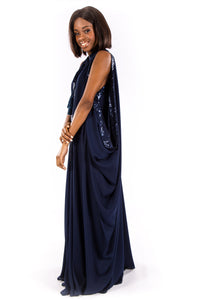 Navy Slouch Gown