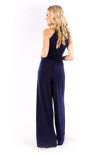 Navy High Neck Jumpsuit