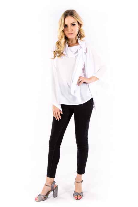 White Tie Classic Blouse