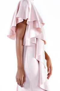 Pink Ruffle Cocktail Dress