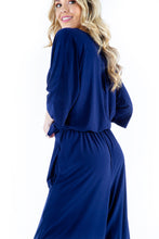 Navy Twist Jumpsuit