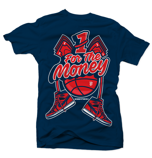 1 for the Money Navy Tee