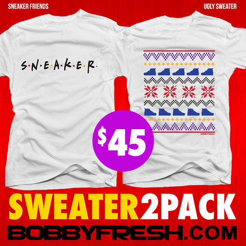 2 Pack Sweater 7 Sneaker Friends / Ugly Sweater White Tees
