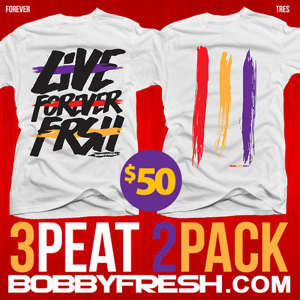 2 pack 3 peat Forever / Tres White Tees