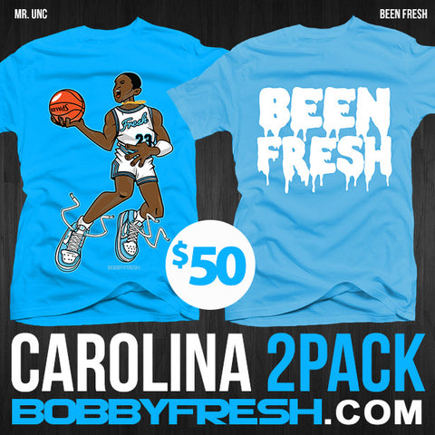 2 Pack Carolina Mr UNC / Been Fresh Blue Tees
