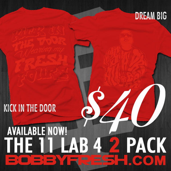 2 Pack Dream Big/ Kick in the Door Red/Red Tees