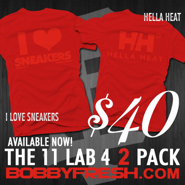 2 Pack I Love Sneakers/Hella Heat Red/Red Tees