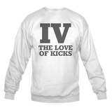 Iv the Love of Kicks White Crewneck
