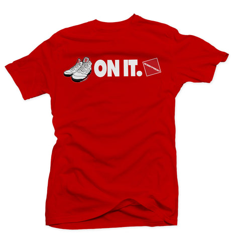 5 On It Red Tee (2013 White/Fire Red)