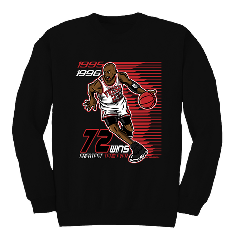 72 Wins Black Crewneck