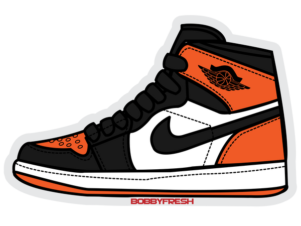 Jordan 1 Shattered Backboard Sticker