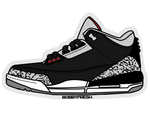 Jordan 3 Black Cement Sticker - Bobby Fresh