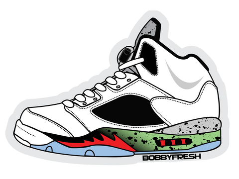 Jordan 5 Poison Sticker