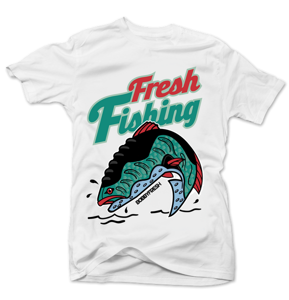 Fresh Fishing White Tee