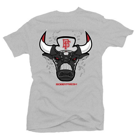 Bulls 5 Heather Grey Tee