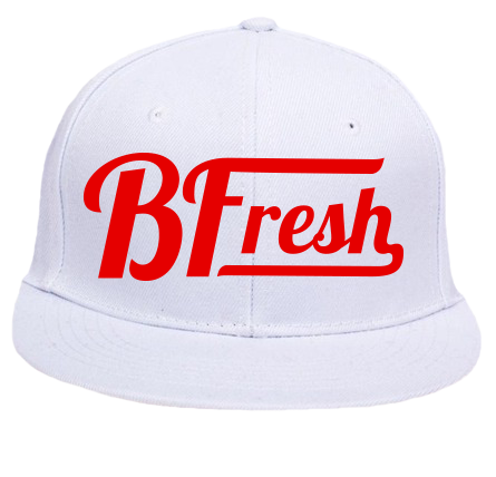 BFresh White/Red Snapback