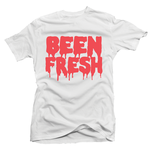 Been Fresh White / Infrared Tee - Bobby Fresh
