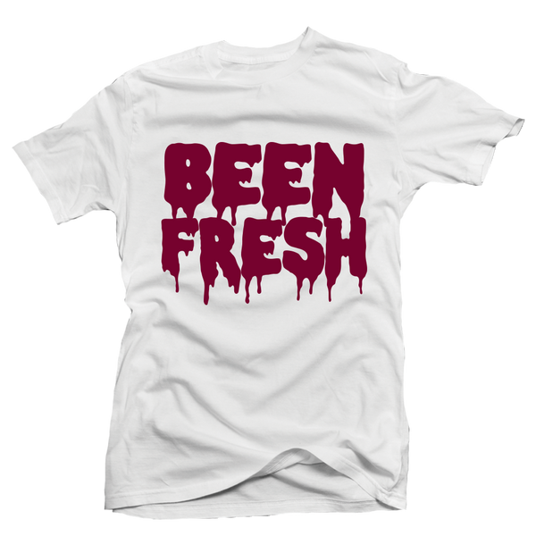 Been Fresh Maroon White Tee