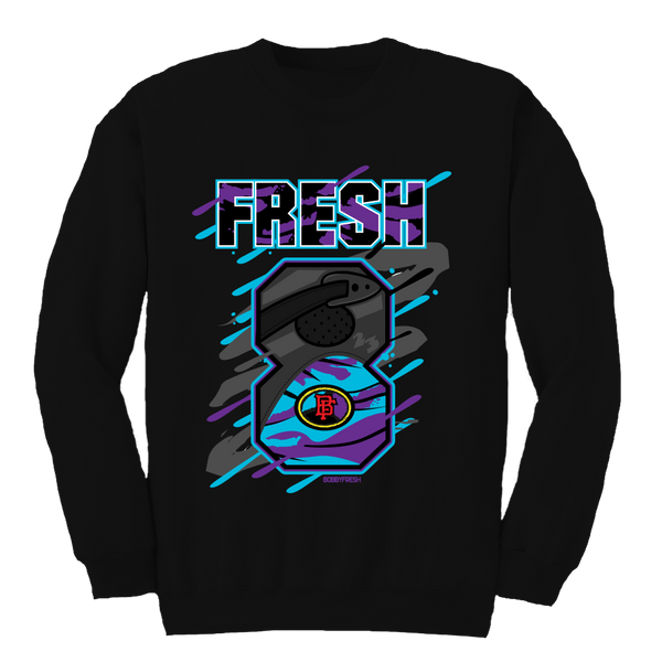 Big 8 Aqua Black Crewneck