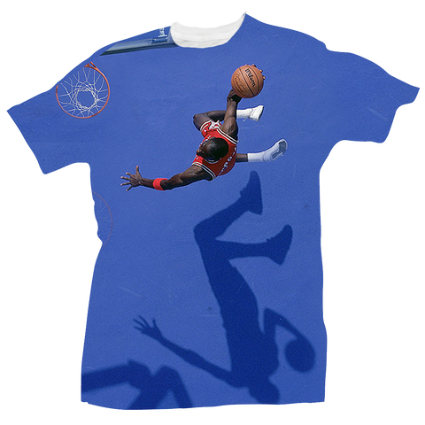Blue Court All Over Tee
