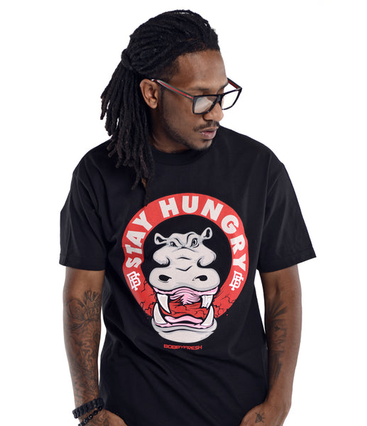 Stay Hungry Black Tee