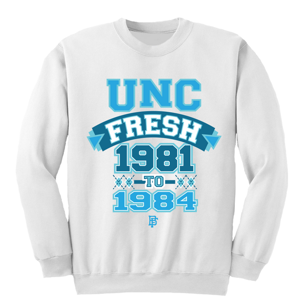 Carolina White Crewneck