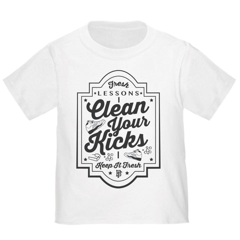 Clean Your Kicks White Baby Fresh Tee