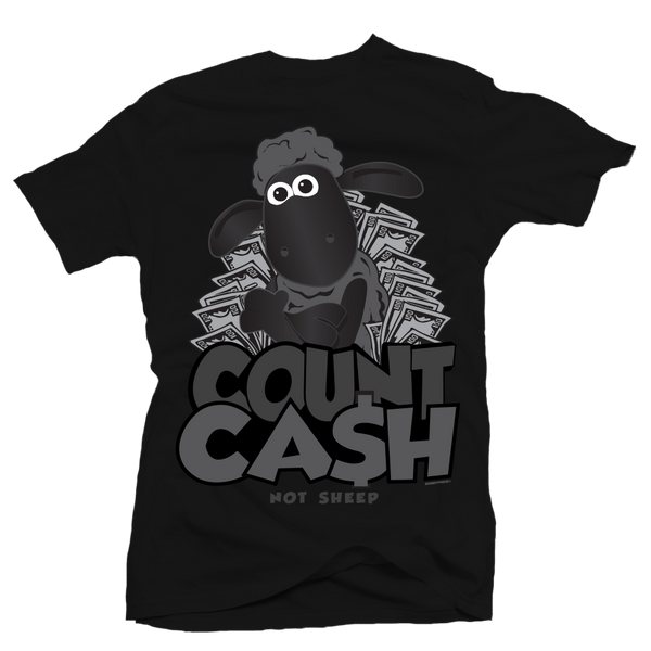 Count Cash Black Tee